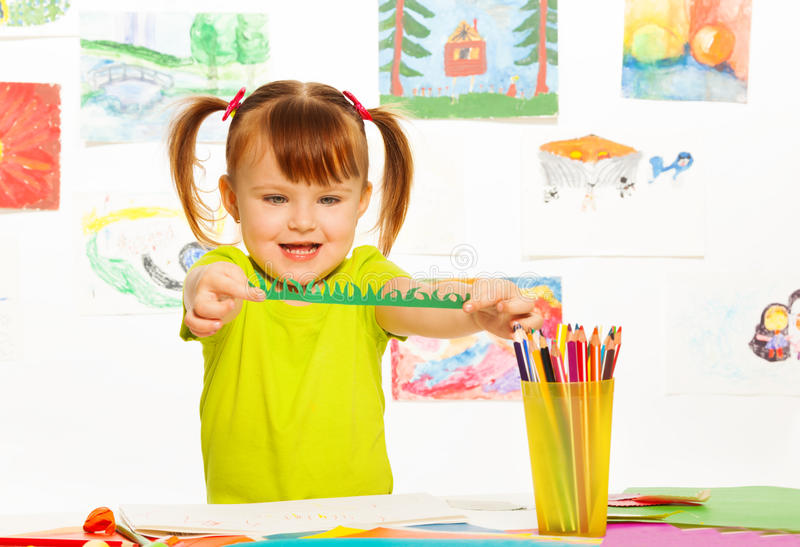 Download Cut glue and draw stock photo. Image of children, craft - 38747674