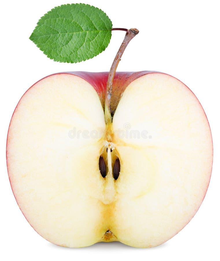 Cut half an Apple royalty free stock photos