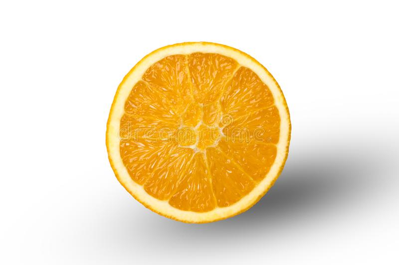 Cut in half orange royalty free stock image