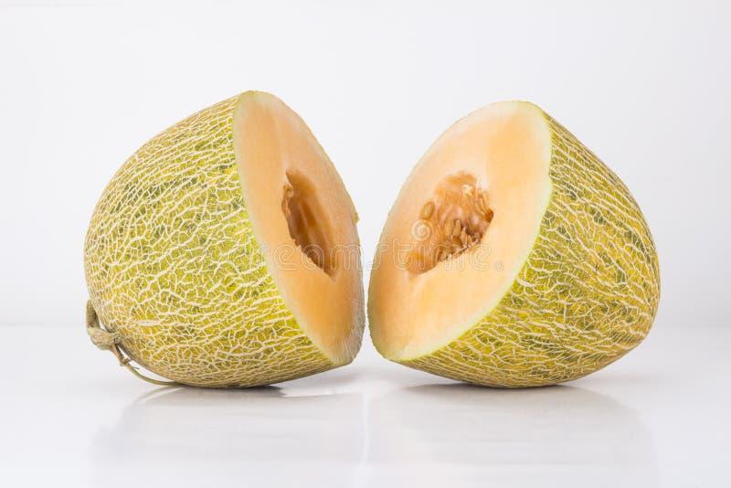 Cut the hami melon royalty free stock photo