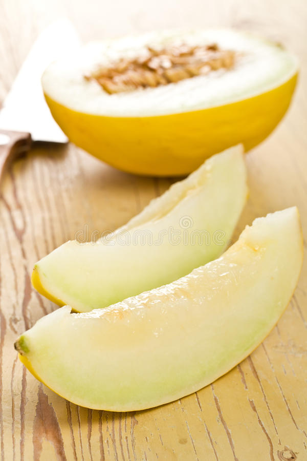 Download Cut honeydew melon stock photo. Image of nature, fresh - 17231842