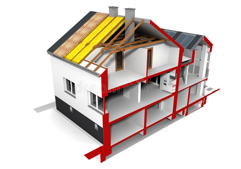 Download Cut of a house stock illustration. Image of residential - 26691318