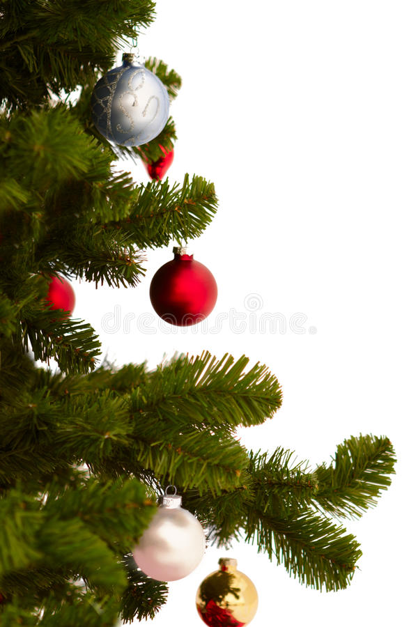 Download Cut Image Of A Christmas Tree On White Stock Image - Image: 11440791