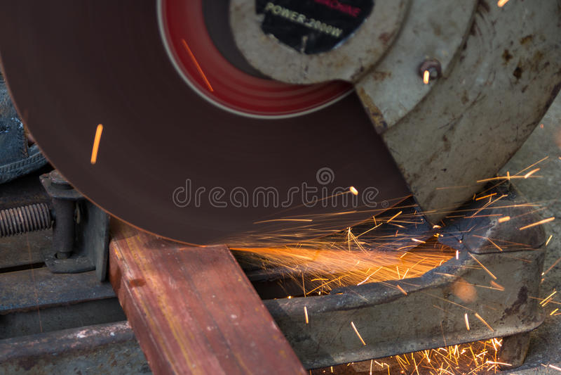 Cut iron royalty free stock image