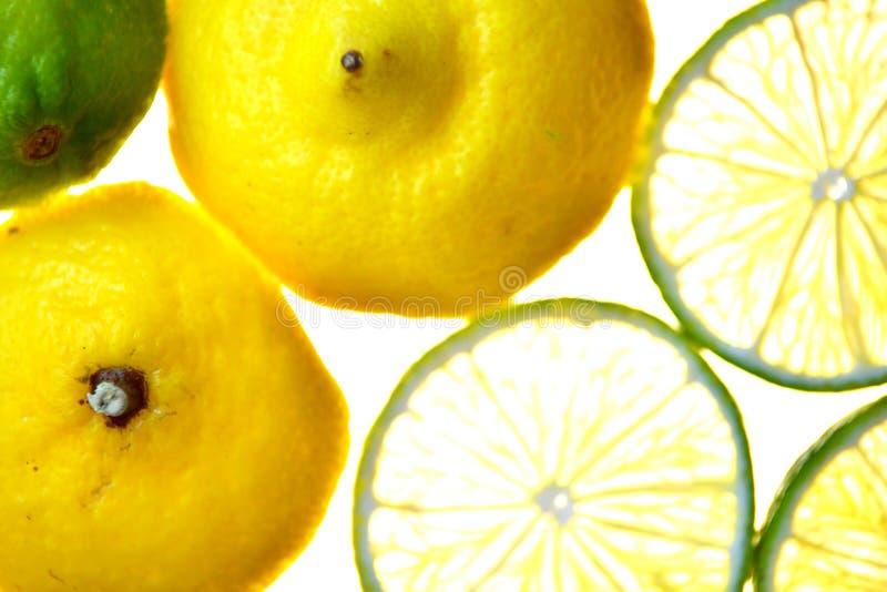Cut isolated citrus lemon fruit royalty free stock image
