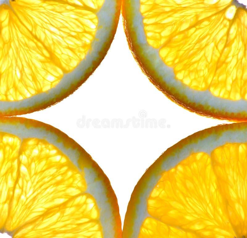 Cut isolated citrus orange fruit royalty free stock images