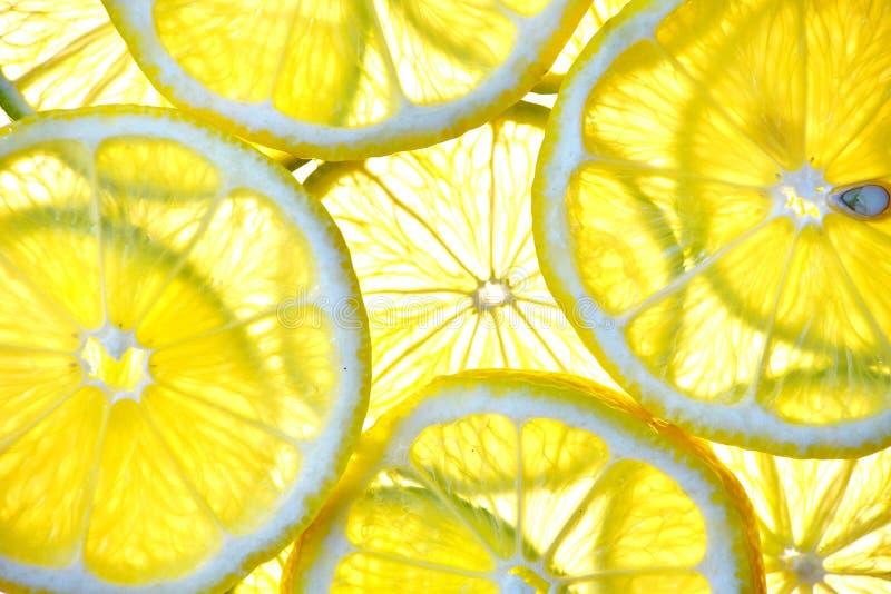 Cut isolated citrus lemon fruit royalty free stock photography