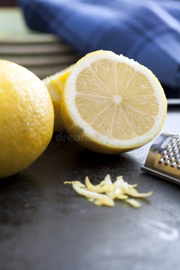 Free Cut Lemon And Zest Royalty Free Stock Photos - 22079158
