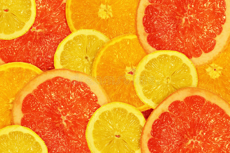 Download The Cut Lemons, Oranges And Grapefruits Stock Photo - Image: 24072600
