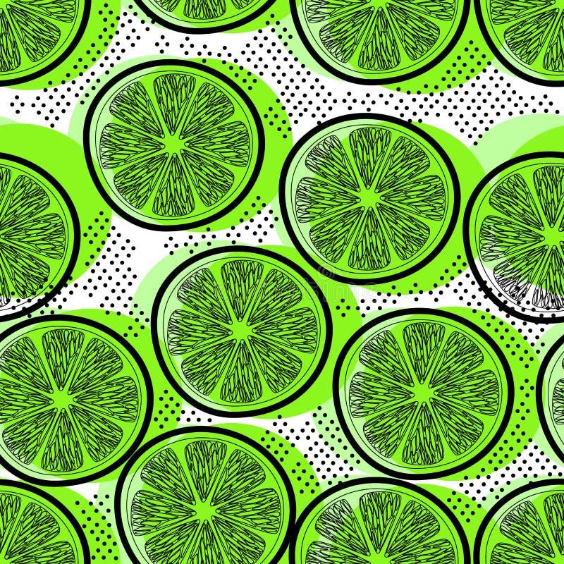 Cut limes seamless pattern royalty free stock image