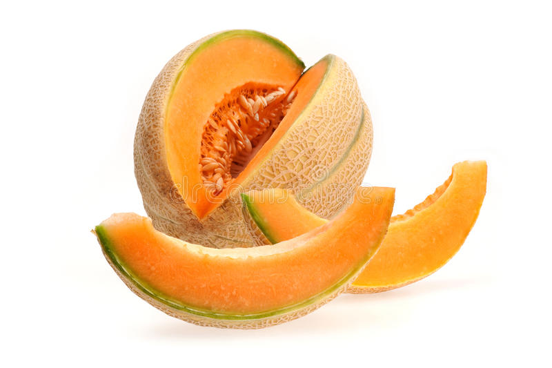 Cut melon royalty free stock images
