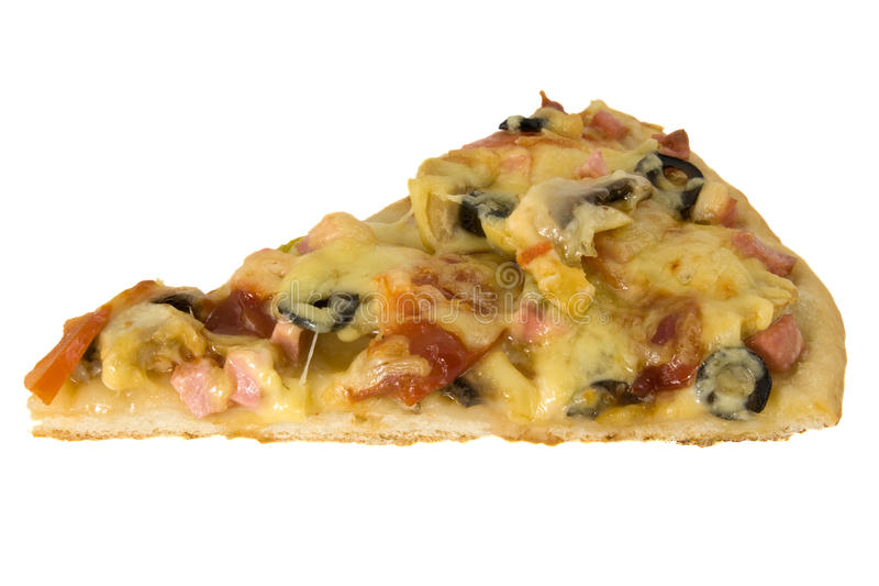 Cut off slice pizza royalty free stock photos
