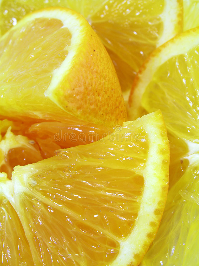 Cut Oranges royalty free stock photography