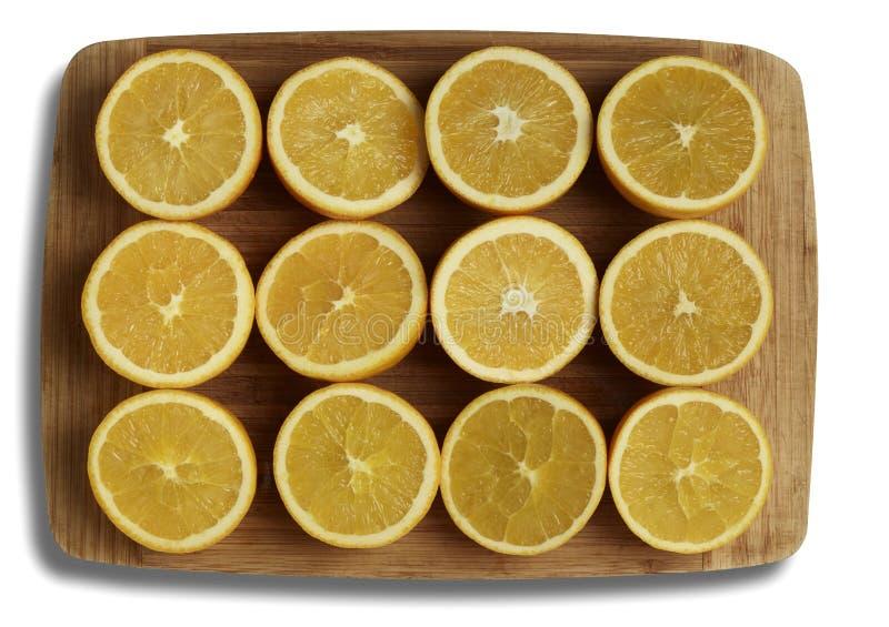 Cut Oranges stock images