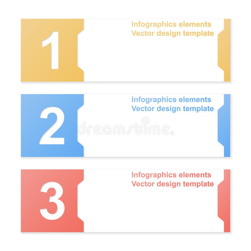 Cut-out numbered banners. Design template. Colorful cut-out numbered banners. Design template. Vector illustration stock illustration