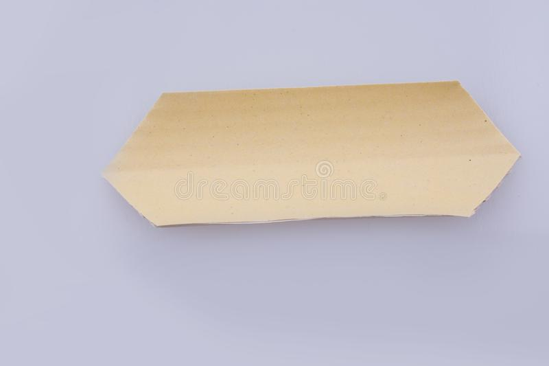 Cut out paper with pattern. On a white background royalty free stock photo