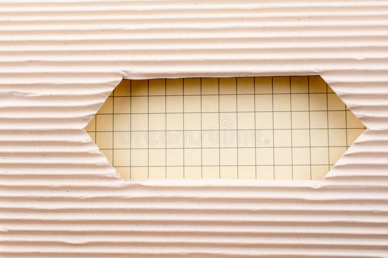Cut out paper with pattern. Notebook and a Cut out paper with pattern on a white background royalty free stock photography