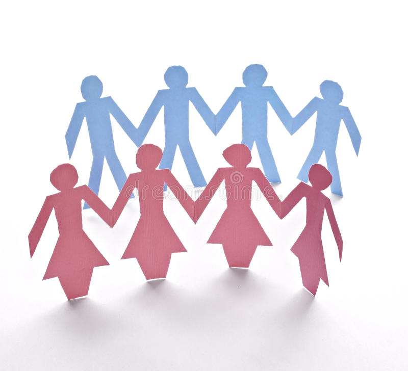 Cut Out Paper People Royalty Free Stock Photos