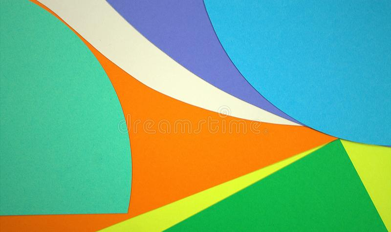 Cut paper color.Symphony and color play.The magic of colors. Wall design.Cut paper. Ecology logo, purity of nature.Clean seas, oceans, forests, rivers, air royalty free stock photos