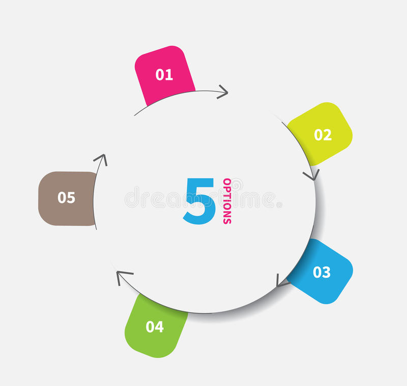 Cut paper infographics circle vector illustration