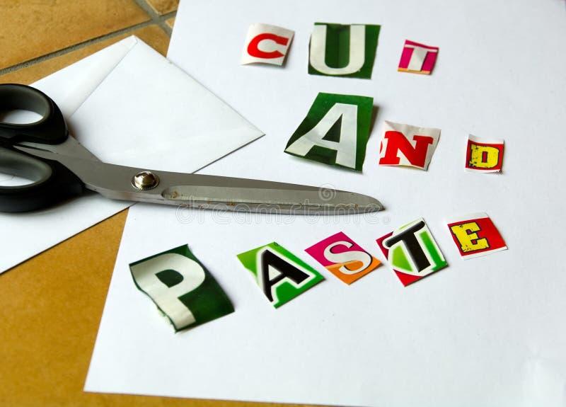 Download Cut and paste stock illustration. Image of black, sharp - 23058489