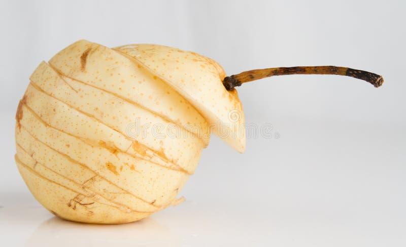 Cut pear stock image
