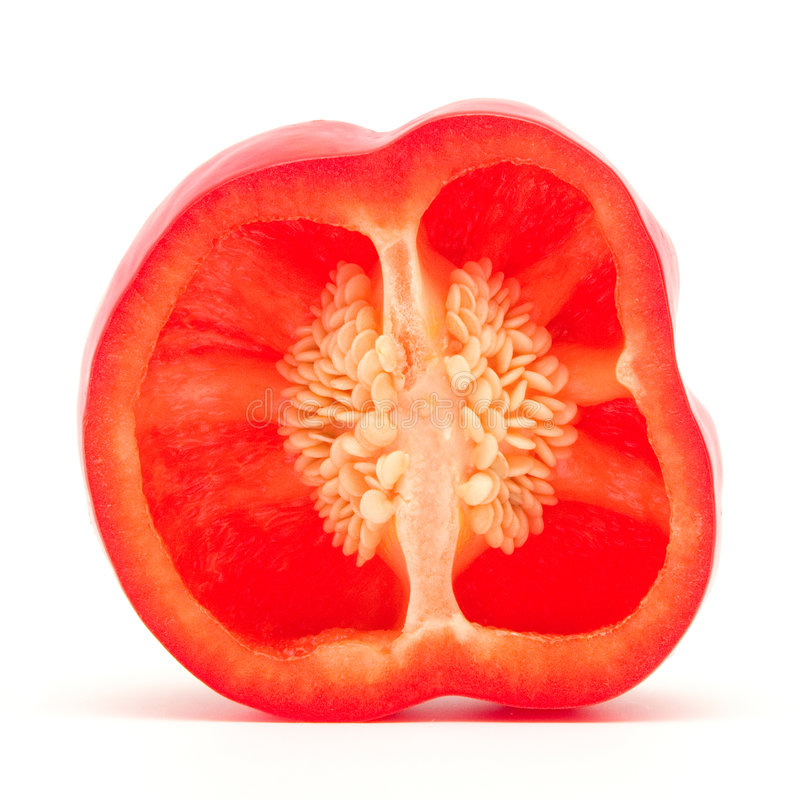 Download Cut pepper stock photo. Image of ripe, part, stem, shiny - 7538134