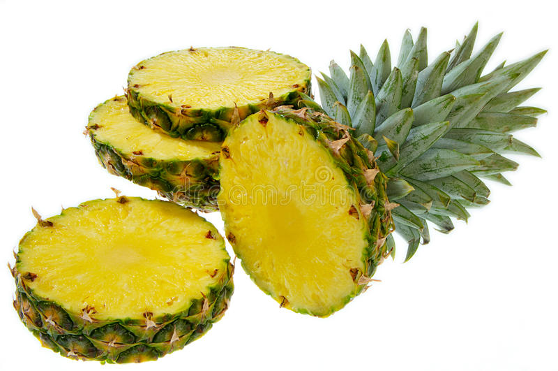 Download Cut Pineapple stock photo. Image of orange, background - 12154944