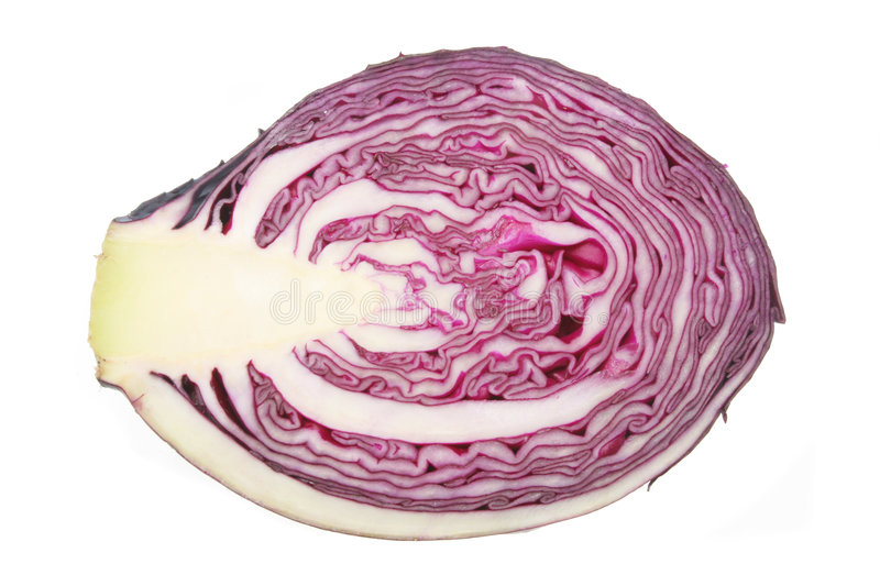 how to cut a red cabbage