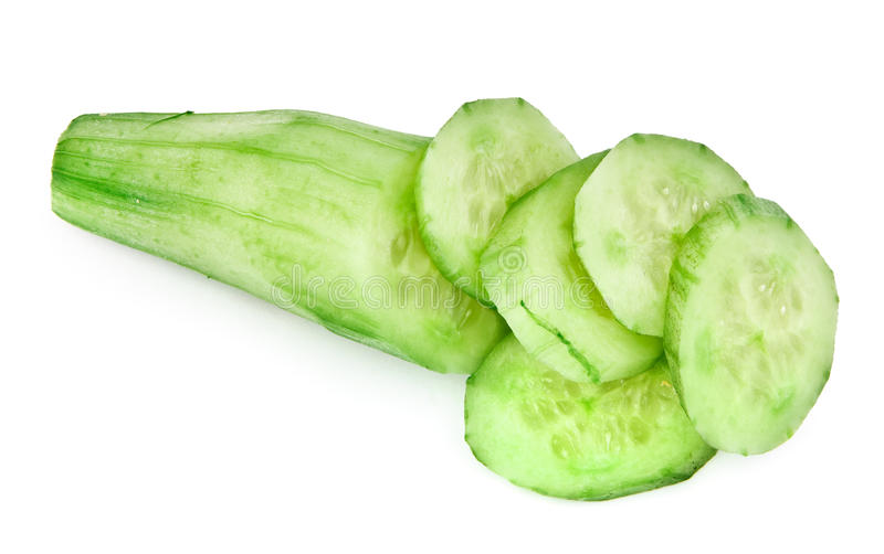 Download Cut ripe cucumber stock photo. Image of cross, object - 14684448
