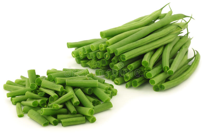 cut small and slender green beans haricot vert stock photo image of isolated cuisine 25088572. Black Bedroom Furniture Sets. Home Design Ideas