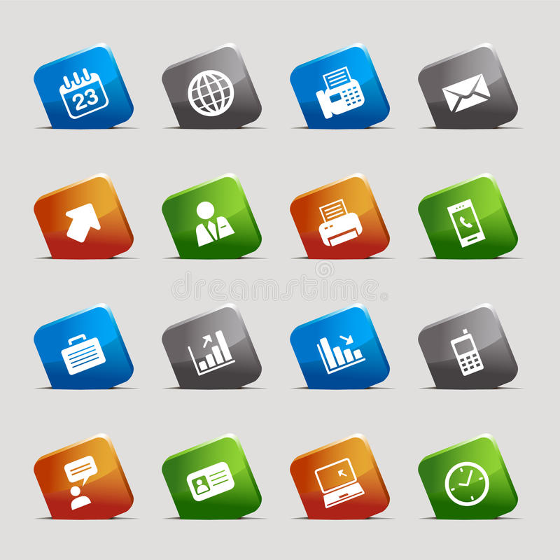 Download Cut Squares - Office And Business Icons Stock Vector - Image: 19583939