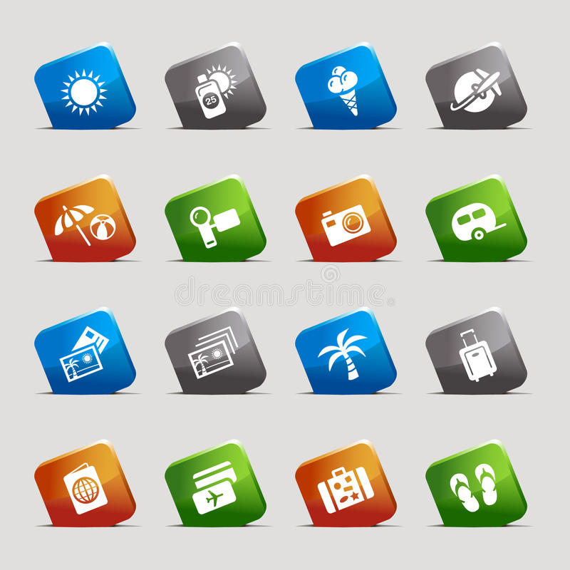 Download Cut Squares - Vacation Icons Stock Vector - Image: 23192443