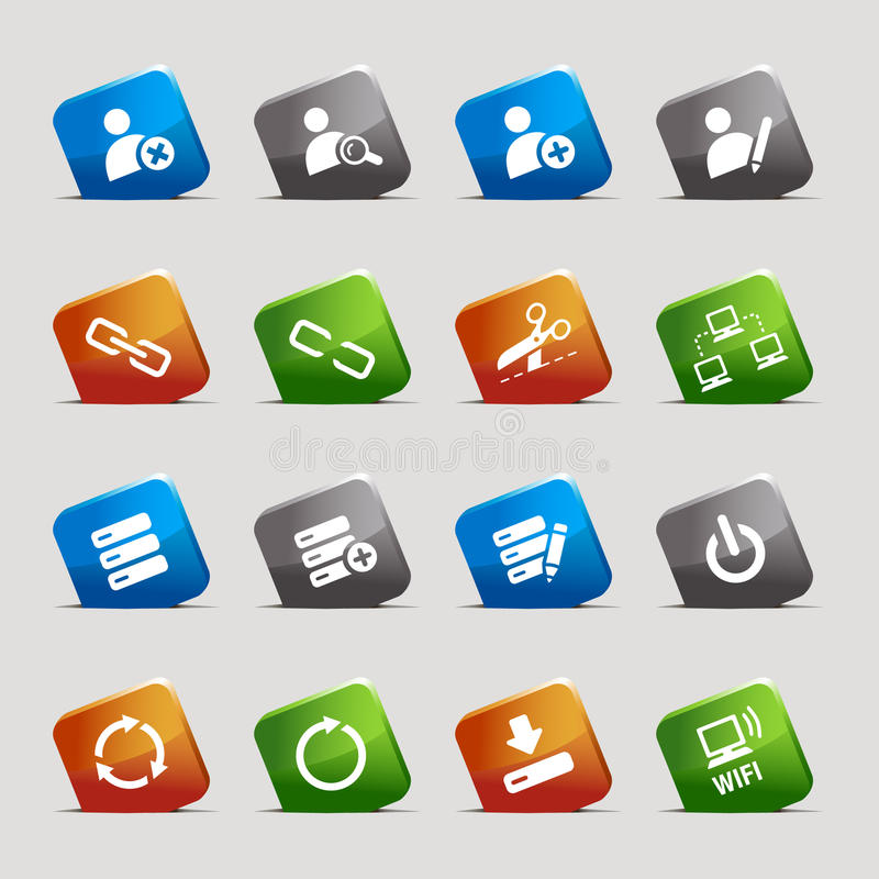 Cut Squares - Website and Internet Icons royalty free illustration