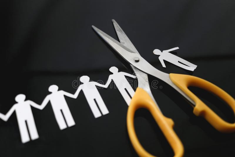 Cut ties and boycott. Concept royalty free stock photography