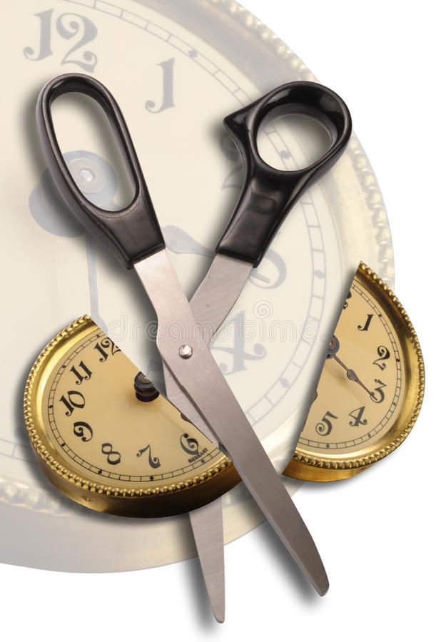 Cut Time stock image