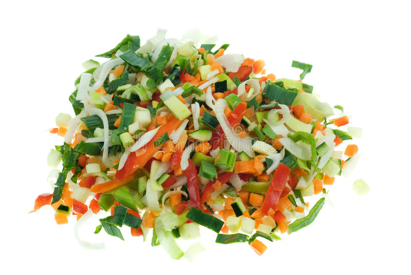 Cut vegetables royalty free stock photos