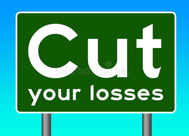 Cut your losses royalty free illustration