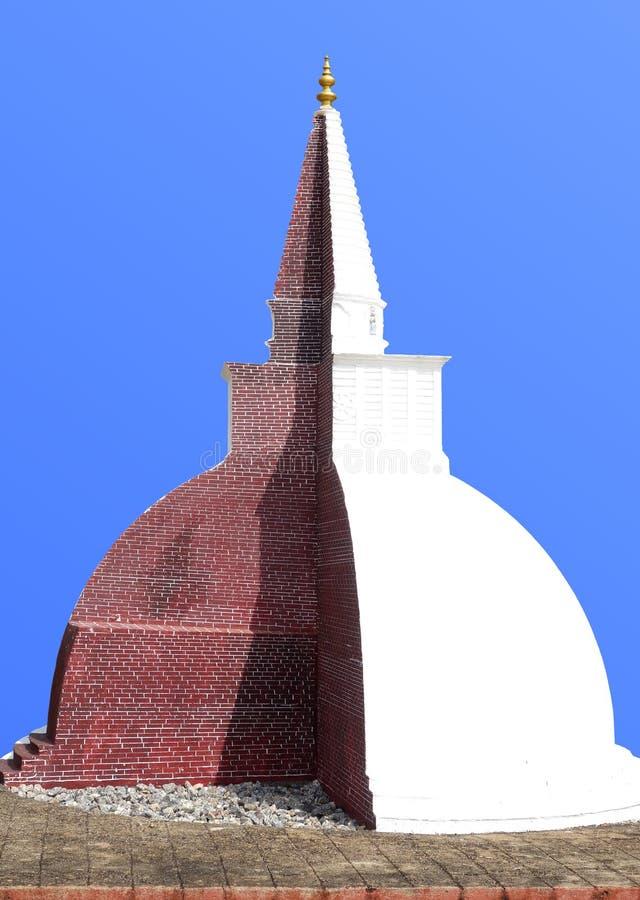 Cutaway модель буддийского Stupa стоковая фотография