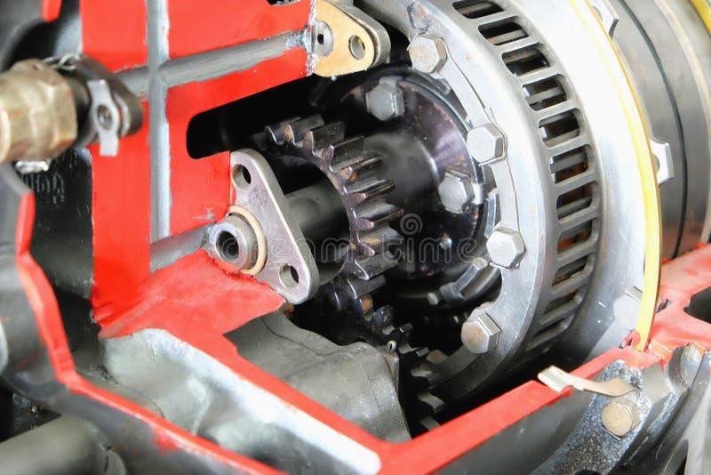Cutaway реактивного двигателя Turbo стоковая фотография