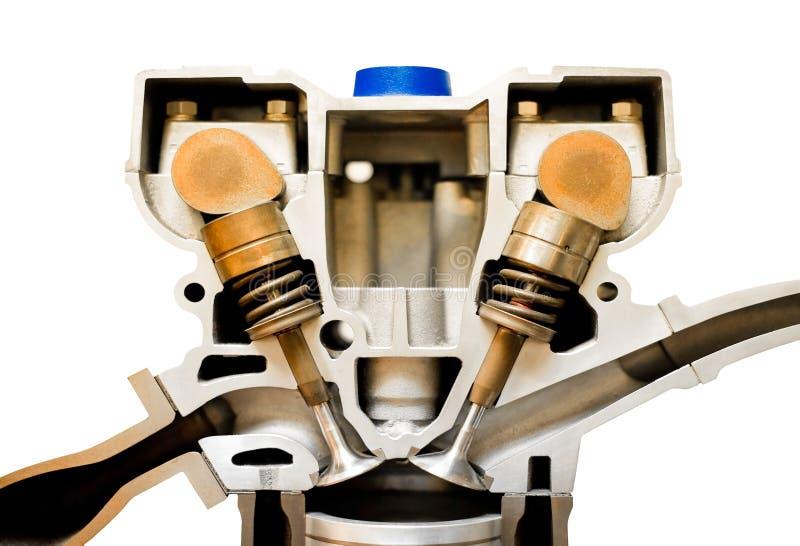 Cutaway do motor imagem de stock