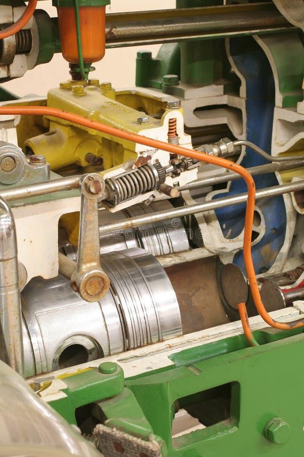 Cutaway do motor foto de stock