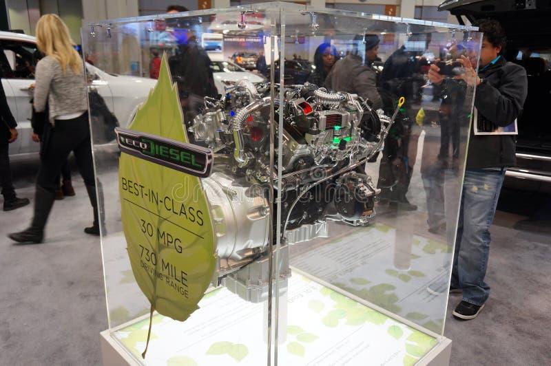 Cutaway do motor diesel fotografia de stock