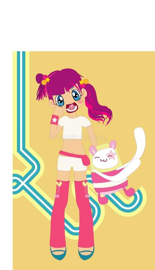 Download Cute stock illustration. Illustration of cartoon, lovely - 2120122