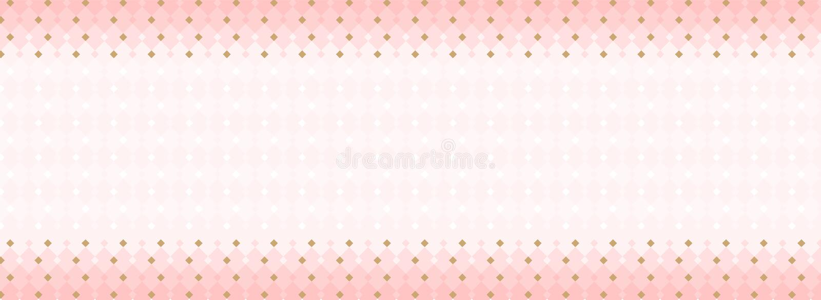 Cute abstract seamless pattern. Template for banner, business card, invitation little princess party. Girlish sweet pastel background. Trendy geometric wallpaper royalty free illustration