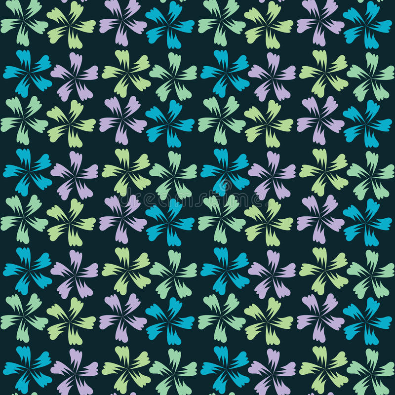Cute abstract seamless pattern. Vector floral background. Print stock illustration