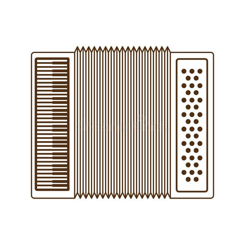 Cute accordion isolated icon. Vector illustration design stock illustration
