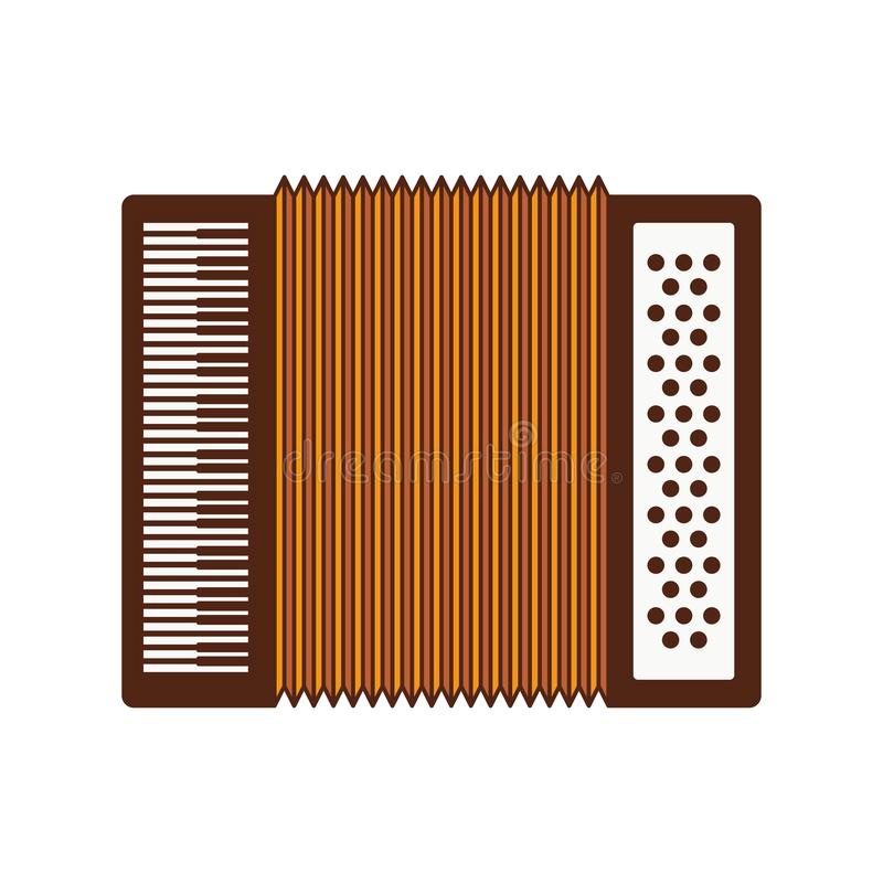 Cute accordion isolated icon. Vector illustration design vector illustration