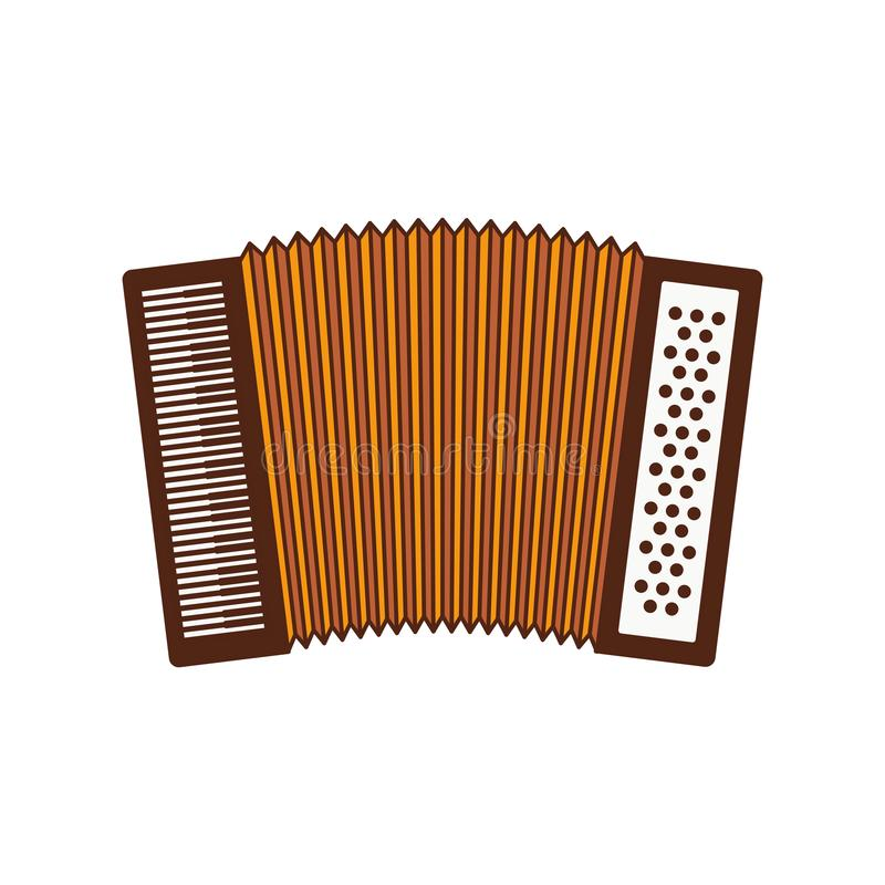 Cute accordion isolated icon. Vector illustration design royalty free illustration