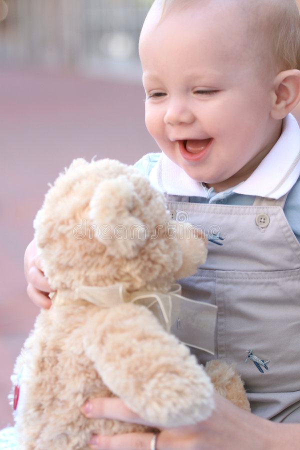 Cute, Adorable Baby Boy with Blue Eyes stock photography